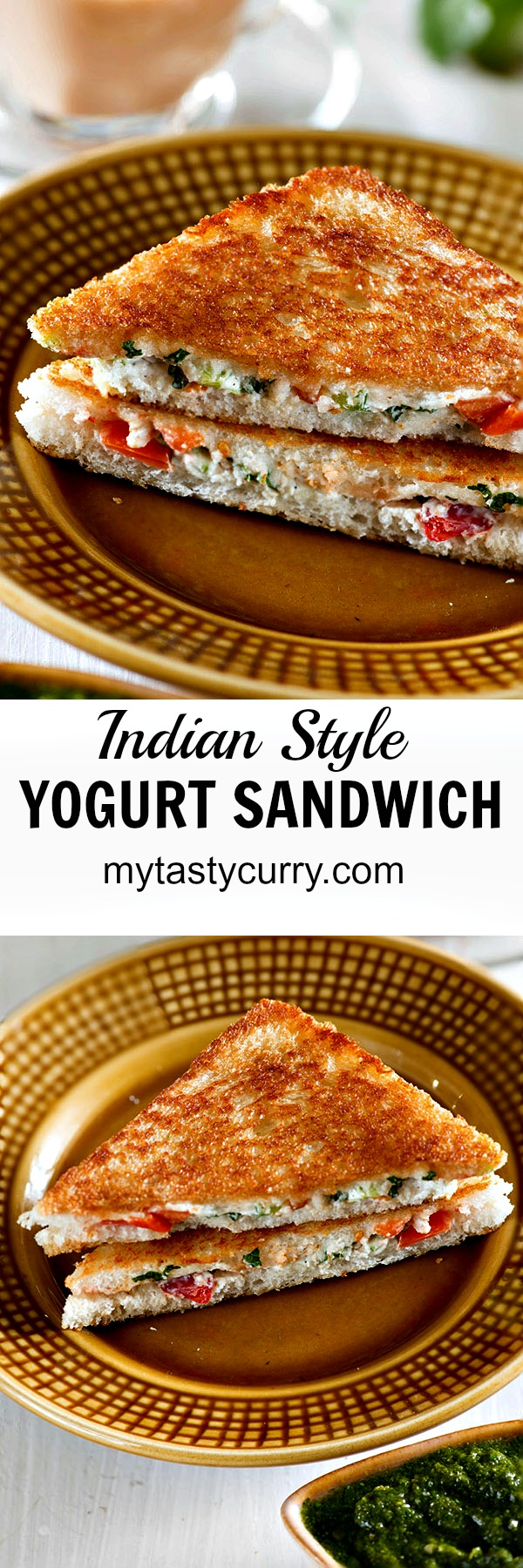Curd sandwich or yogurt sandwich is healthy Indian sandwich recipe. Hung curd, mixed with colorful vegetables seasonings and cheese makes an excellent sandwich filling.