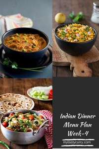 Indian Meal Plan Week 4 – Dinner Plans for the Week