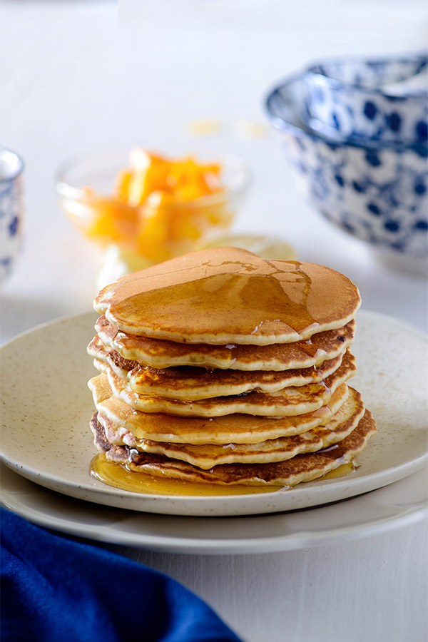 Fluffy pancake for breakfast, an easy delicious homemade fluffy pancake recipe made with simple ingredients. Almost fail proof recipe of pancakes that gives perfect stack of pancakes if you follow the exact proportions of ingredients.
