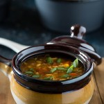 Hot and sour egg drop soup is egg drop soup with spicy and bold Indo Chinese flavors. Warming and comforting this winter soup is very easy to make and comes together in 20 Minutes.