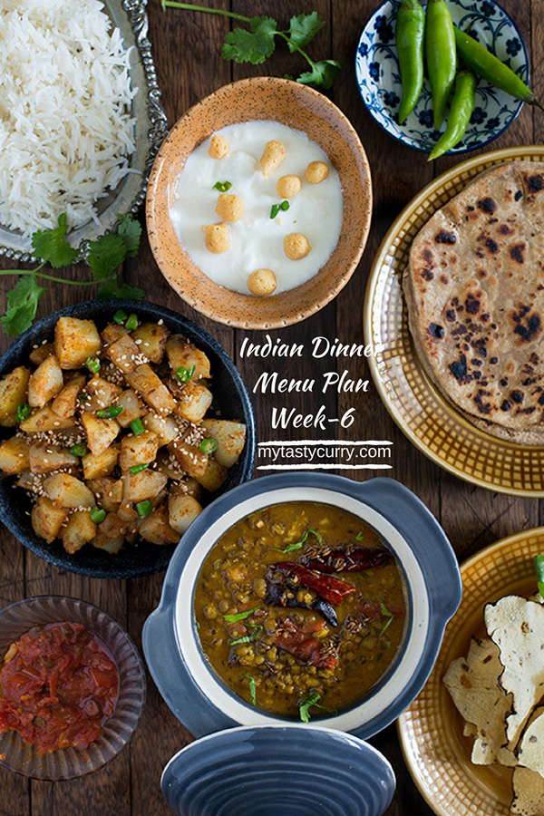 Indian meal plan week 6 breakfast lunch and dinner plan my tasty tuesday meal plan forumfinder Images