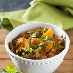 Aloo baingan sabzi is tasty curry from North India. Eggplant and Potatoes are cooked in a tangy gravy with aromatic spices for this tasty curry