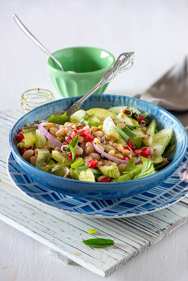 Lobia salad or white bean salad my tasty curry