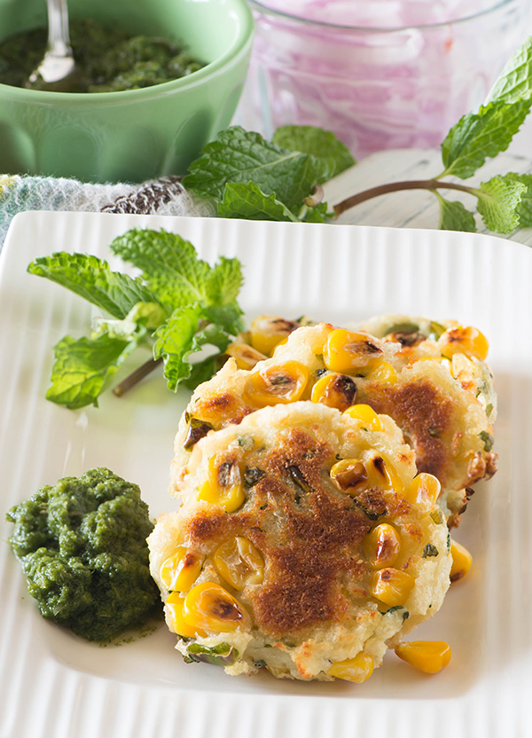 aloo corn tikki in microwave