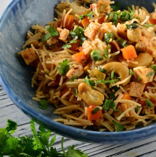 Vemicelli Veg Pulao, Namkeen Semiya #Breakfast #20Minutes #LunchBox #Indian #GlutenFree recipe by @rekhakakkar