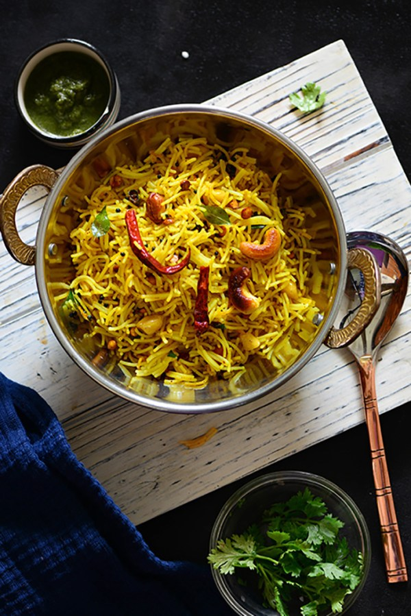 Lemon Vermicelli Upma 20 Minute Breakfast My Tasty Curry
