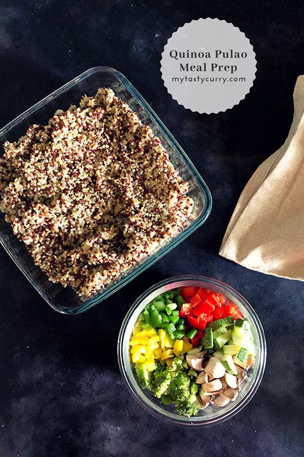 quinoa pulao meal prep