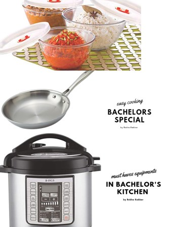 must have equipments in Bachelors kitchen
