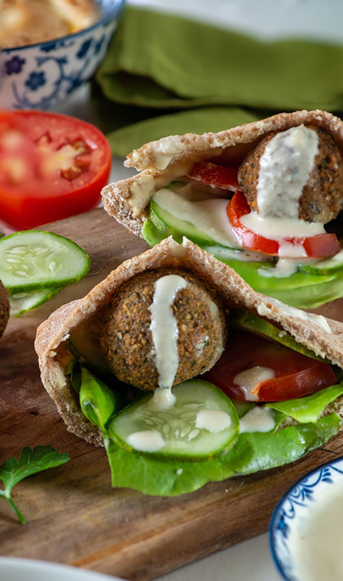 Lebanese Falafel Pita Pocket Sandwich My Tasty Curry