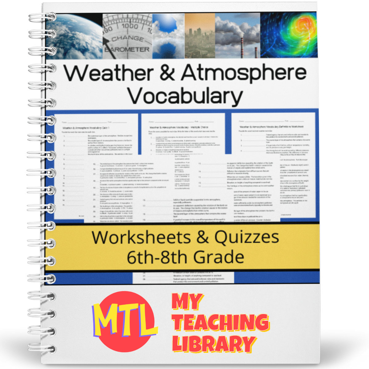 Weather And Atmosphere Vocabulary Worksheets