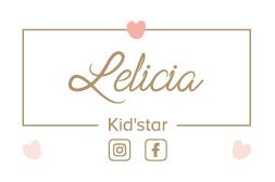 Recto de la carte de visite Lelicia Kid'star