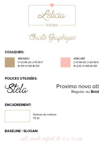 Charte graphique Lelicia Kid'star