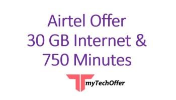 Airtel Offer 2020 30GB Internet & 750 Minutes TalkTime with 448 Taka