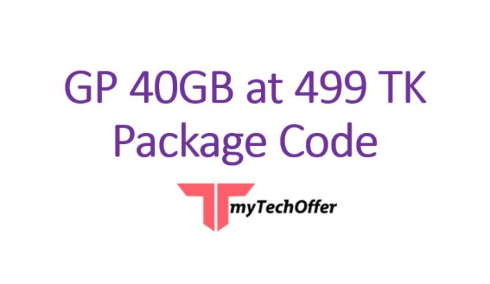 GP 40GB at 499 TK Package Code