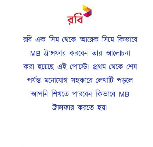 Robi MB Transfer System
