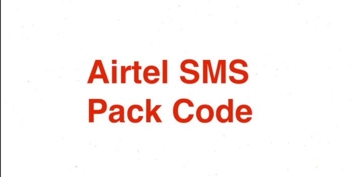 Airtel SMS Pack Code 2021 30 Days