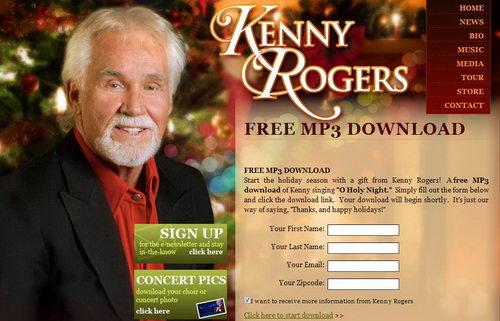 "Christmas Freebie : ""O Holy Night"" by Kenny Rogers, Free MP3"