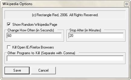 Set Random Wikipedia Page as Windows Desktop Screensaver