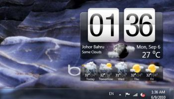 Windows Phone 7 Clock and Weather Widget for Windows 7 and Vista