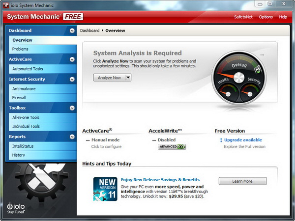Download System Mechanic Free 11 With Basic Pc Tune Up Tools