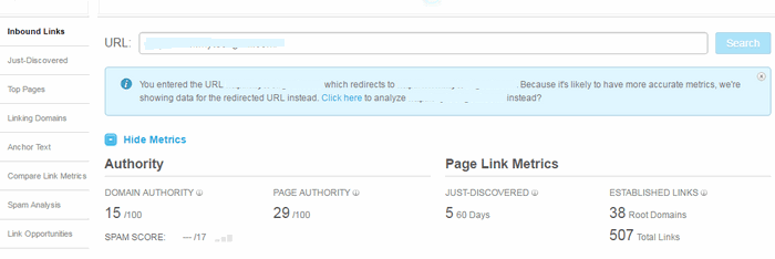 Open Site Explorer Backlink Checker Tool