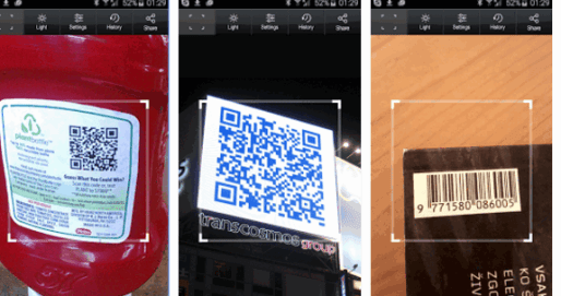 List of Android QR Code or Barcode Scanner Apps