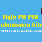 Best High PR PDF Submission Sites list 2018