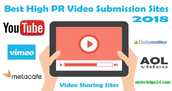 Top 10 Best High PR Video Submission Sites 2018