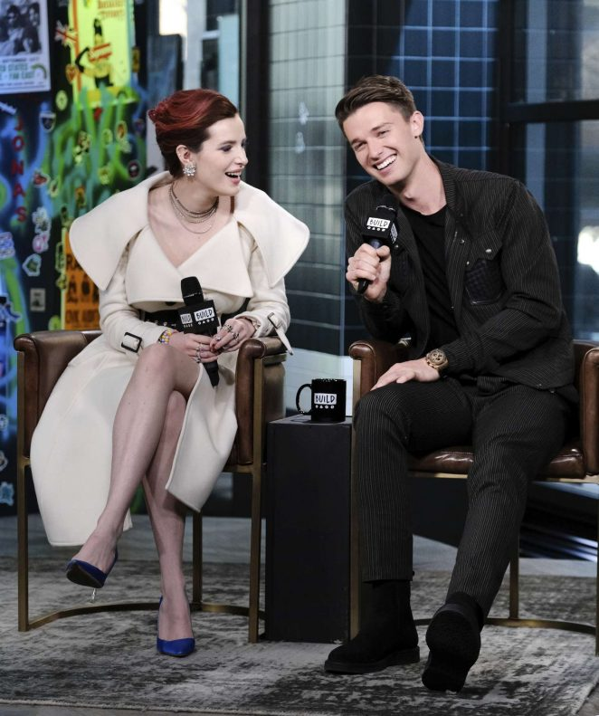 Bella Thorne and Patrick Schwarzenegger – AOL Build Series Studios in NYC