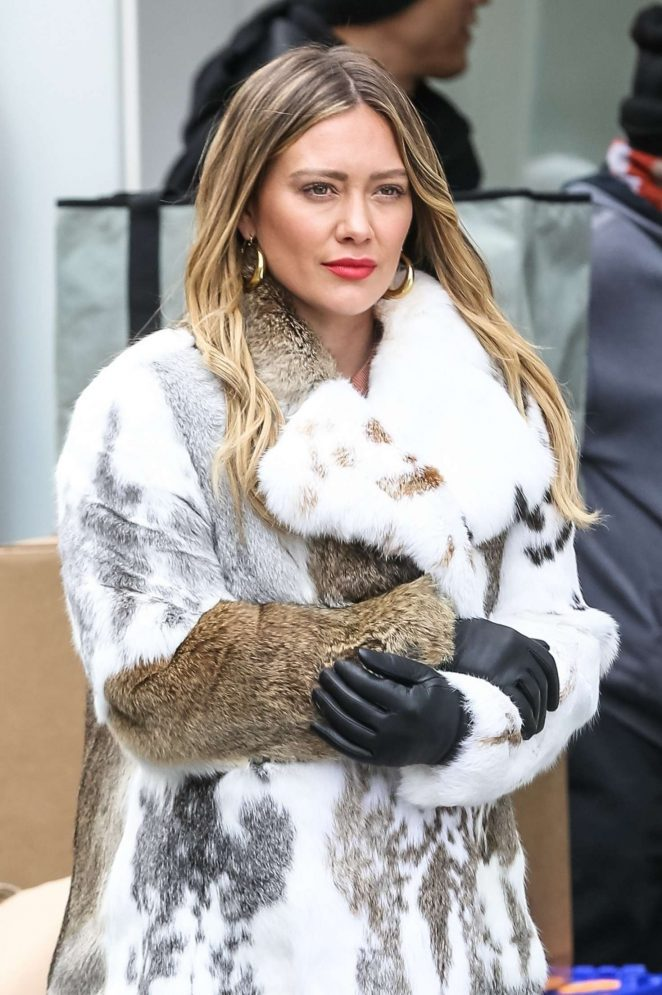 Hilary Duff on set filming 'Younger' in New York