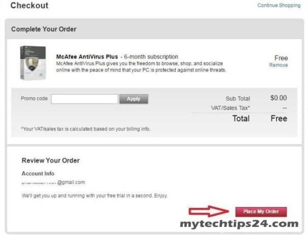 McAfee Antivirus Plus Activation Code