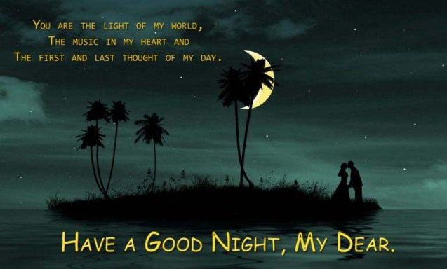 Romantic Good Night Message for lovers