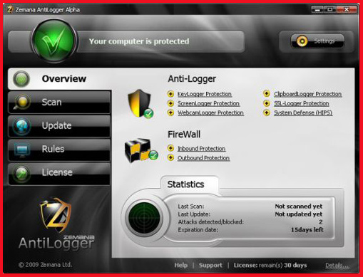 Zemana Antilogger 2020 License Key Serial Free Full Version 1 Year