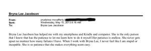testimonial via email