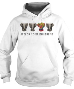 Hippie Elephant It's ok to be different hoodie
