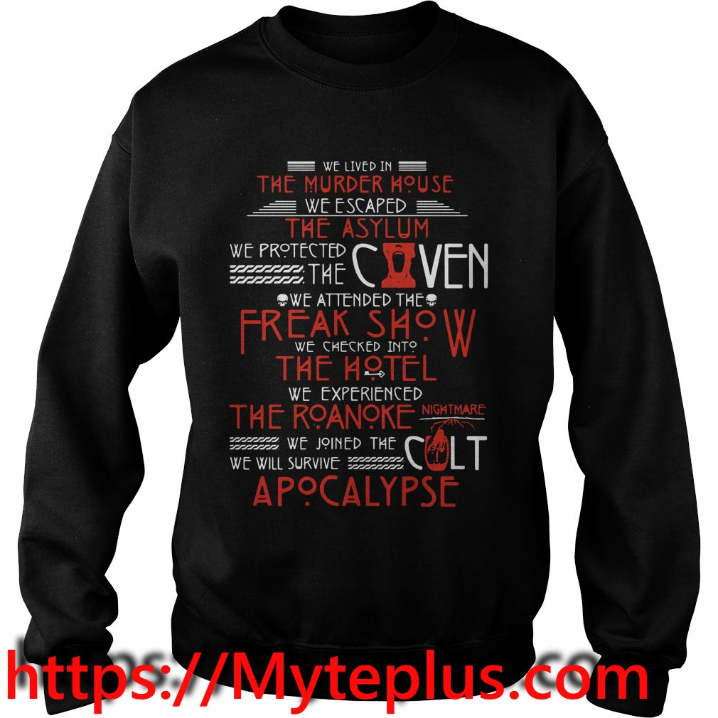 We live in the murder house Sweater