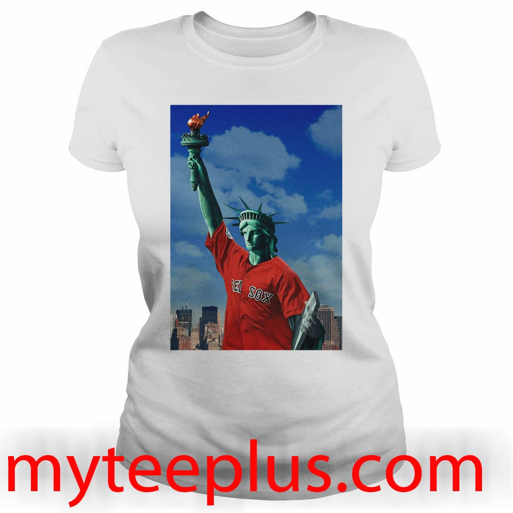 Red Sox Statue of liberty Ladies tee