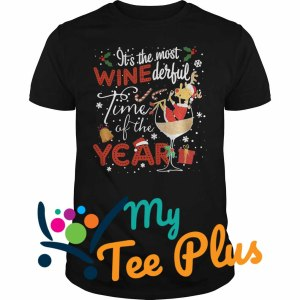 Reindeer Santa It's the most wine derfull time shirt