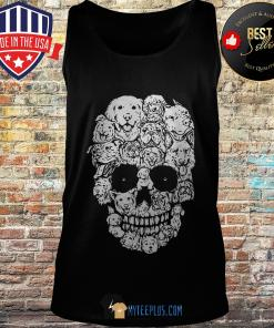 Official Skull Dogs Halloween Funny tank top
