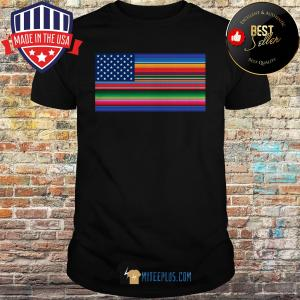 Del Mex Mexican Flag Stars and Stripes shirt