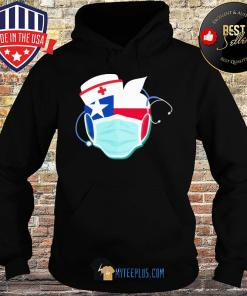Apple Nurse Texas Flag Covid-19 s Hoodie