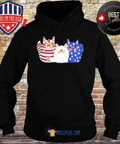 Official Cats American Flag s Hoodie
