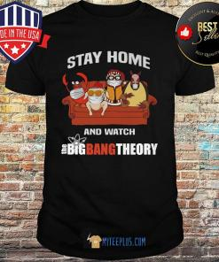 Penguin and Friends Stay At Home And Watch The Big Bang Theory shirt