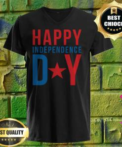 4th of July - Happy Independence day v neck
