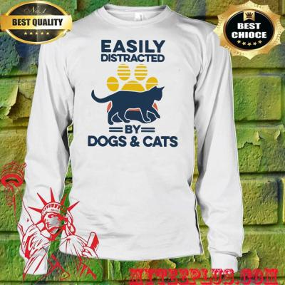 Easily distracted by dogs and cats men's long