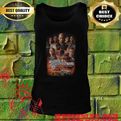 Fast and furious 9 the race is not over car characters signatures tank top