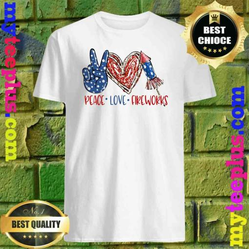 Official Peace Love Fireworks T-Shirt