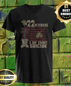 22 Veteran Suicide Awareness Veteran Lives Matter v neck