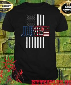 Official June 19th American Flag shirt