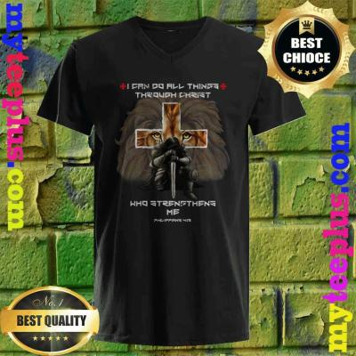 Vintage I Can Do All Things Through Christ Who Strengthens Me Philippians 4-13 v neck